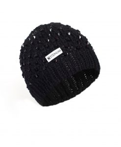 Beanie w. beads black