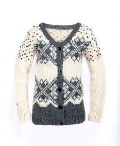 UA pattern Cardigan w. beads